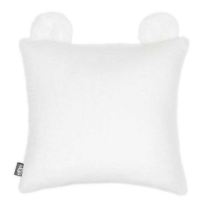 Alternate image 1 for UGG® Teddy Square Plush Throw Pillow in Snow