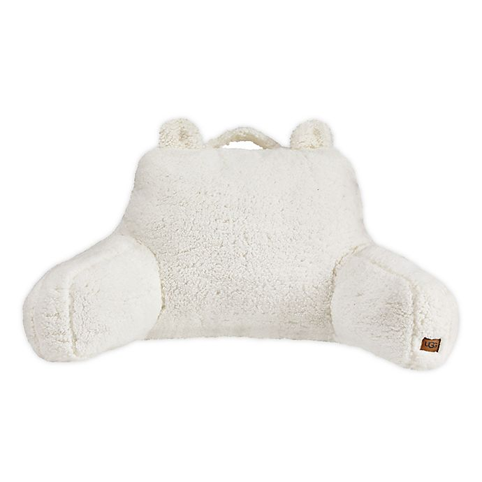 Alternate image 1 for UGG® Casey Sherpa Backrest Pillow in Snow
