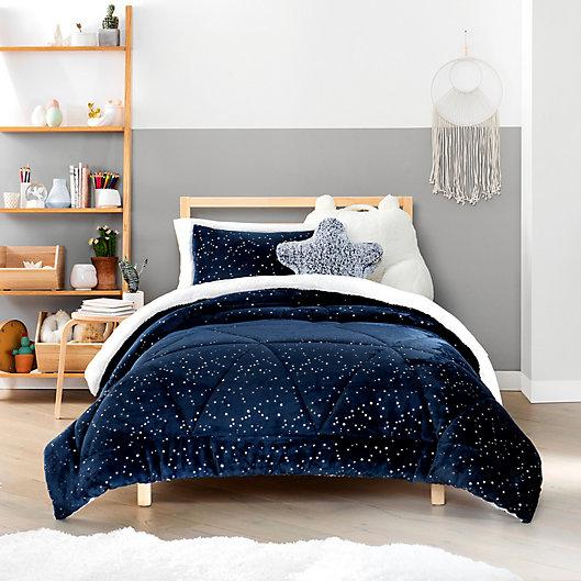 Alternate image 1 for UGG® Milo 3-Piece Reversible Full/Queen Comforter Set in Navy