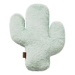 UGG® Cactus Bloom Faux Fur Throw Pillow in Mint