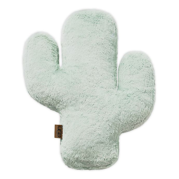 Alternate image 1 for UGG® Cactus Bloom Faux Fur Throw Pillow in Mint