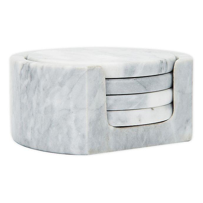 Alternate image 1 for Fox Run® 5-Piece Marble Coaster Set