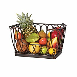 Gourmet Basics By Mikasa® Iron Fruit Basket in Black