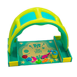 SunSmart Take-Along Beach Time Play Set with Canopy in Green/Yellow