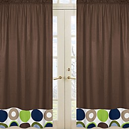 Sweet Jojo Designs Designer Dot 84-Inch Window Panels in Chocolate (Set of 2)
