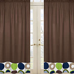Sweet Jojo Designs Designer Dot 84-Inch Window Panels in Chocolate (Set of 2)