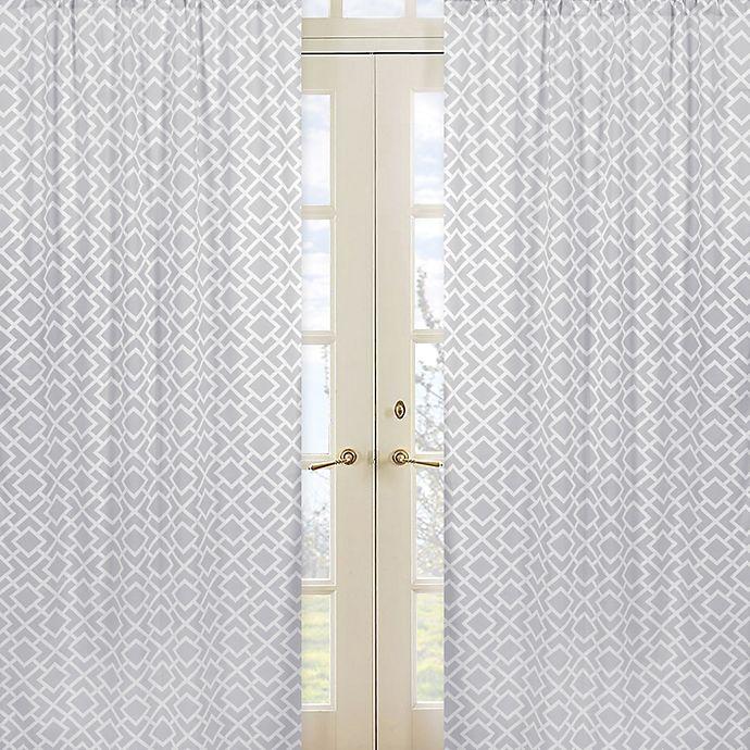 Alternate image 1 for Sweet Jojo Designs Diamond Window Panel Pair in Grey/White