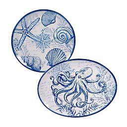 Certified International Oceanic 2-Piece Platter Set