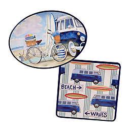 Certified International Beach Time 2-Piece Platter Set