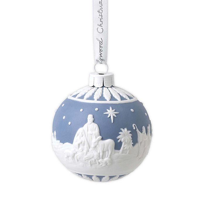 Nativity Christmas 2020 Wedgwood® 2020 4 Inch Nativity Christmas Ornament in Blue/White