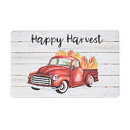 "Harvest 18"" x 30"" Red Truck Anti-Fatigue Kitchen Mat"