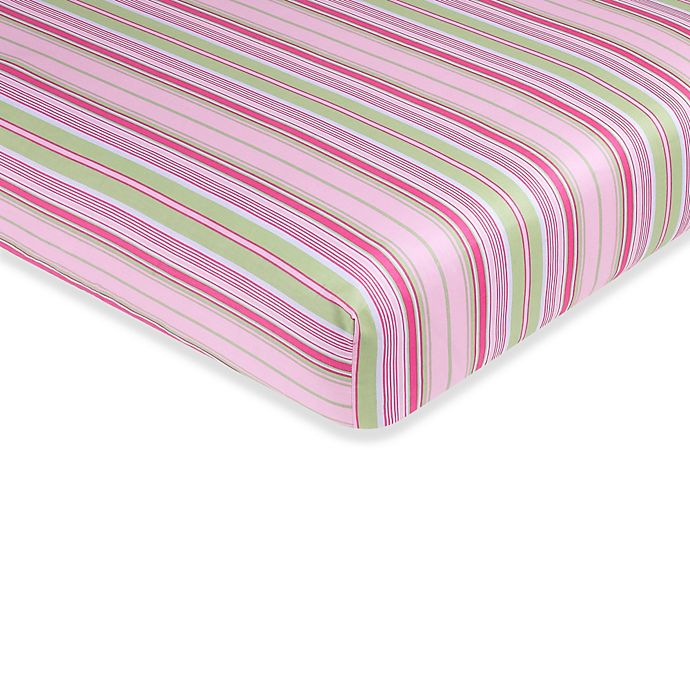 Alternate image 1 for Sweet Jojo Designs Jungle Friends Fitted Crib Sheet in Stripe Print