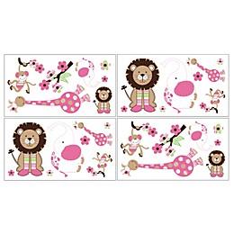 Sweet Jojo Designs Jungle Friends Wall Decals (Set of 4)