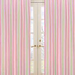 Sweet Jojo Designs Jungle Friends Window Panels in Stripe Print (Set of 2)