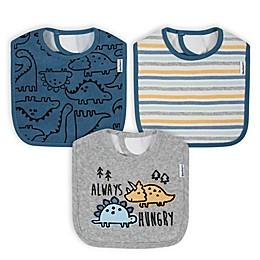 Gerber® 3-Pack Animals Bibs in Blue/Grey