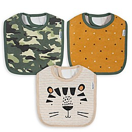 Gerber® 3-Pack Animals Bibs in Oatmeal/Camouflage