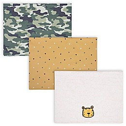 Gerber® 3-Pack Tiger Burp Cloths in Oatmeal