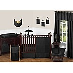 Sweet Jojo Designs Minky Dot 11-Piece Crib Bedding Set in Black
