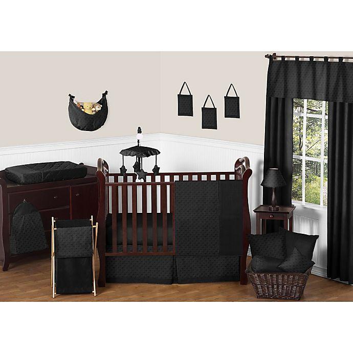 Alternate image 1 for Sweet Jojo Designs Minky Dot 11-Piece Crib Bedding Set in Black