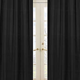 Sweet Jojo Designs Minky Dot Window Panel Pair in Black