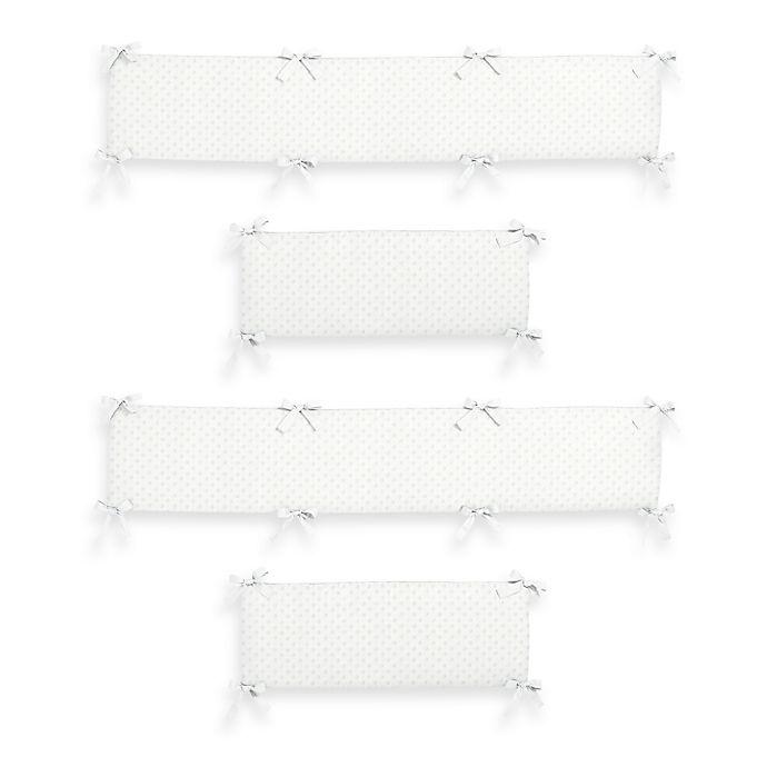 Alternate image 1 for Sweet Jojo Designs Minky Dot Crib Bumper in White