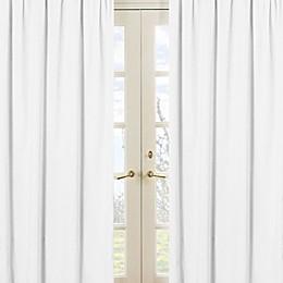 Sweet Jojo Designs Minky Dot 84-Inch Window Panels in White