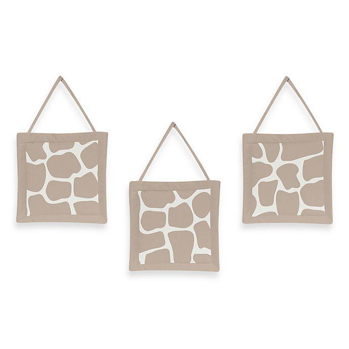 Alternate image 1 for Sweet Jojo Designs Giraffe 3-Piece Wall Hanging Set