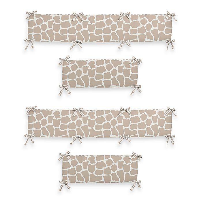 Alternate image 1 for Sweet Jojo Designs Giraffe 4-Piece Crib Bumper