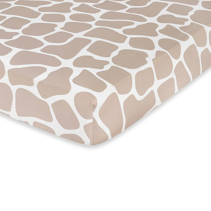Alternate image 1 for Sweet Jojo Designs Giraffe Fitted Crib Sheet in Animal Print