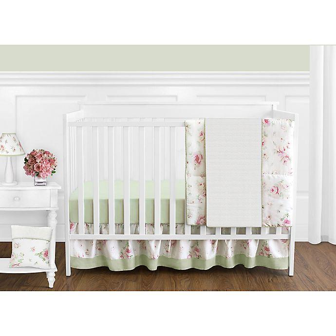 Alternate image 1 for Sweet Jojo Designs Riley's Roses 11-Piece Crib Bedding Set
