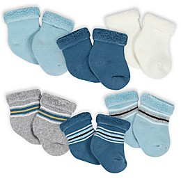 Gerber® 6-Pack Terry Socks in Grey/Ivory
