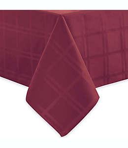 Mantel cuadrado con diseño de cuadros 132 cm x 177 cm Origins® en vino