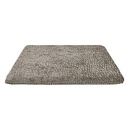 Comfortable Pet Bed Orthopedic Crate Mat in Silver