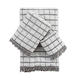 Antique Bath Towel Collection in Light Grey