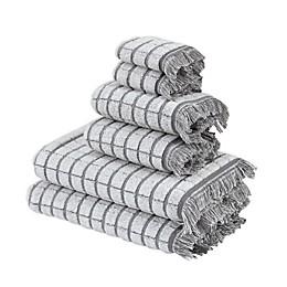 Antique 6-Piece Bath Towel Set in Light Grey