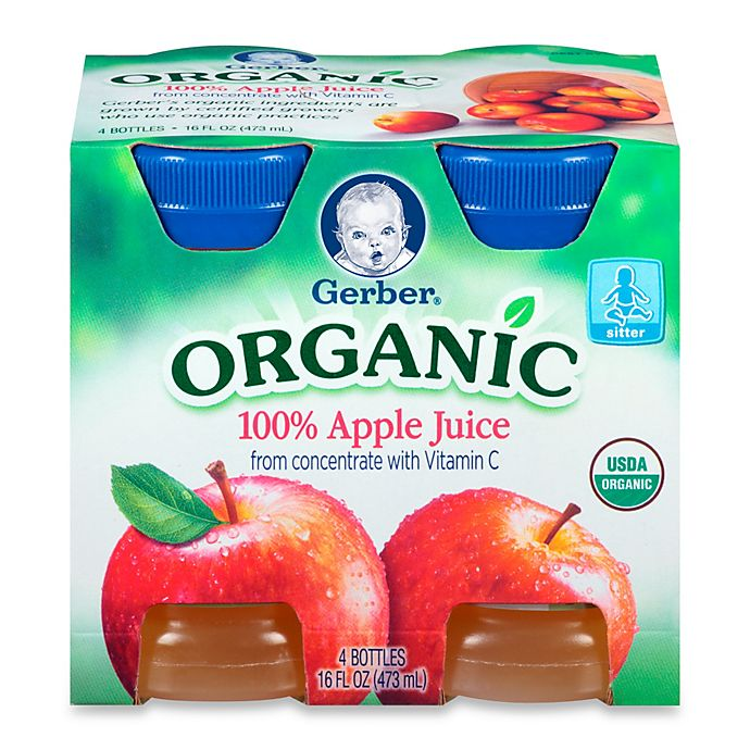 Alternate image 1 for Gerber® 4-Pack 4 fl. oz. Organic Apple Juice