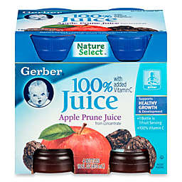 Gerber® 100% 4 oz Apple Prune Juice From Concentrate With Added Vitamin C (4-Pack)