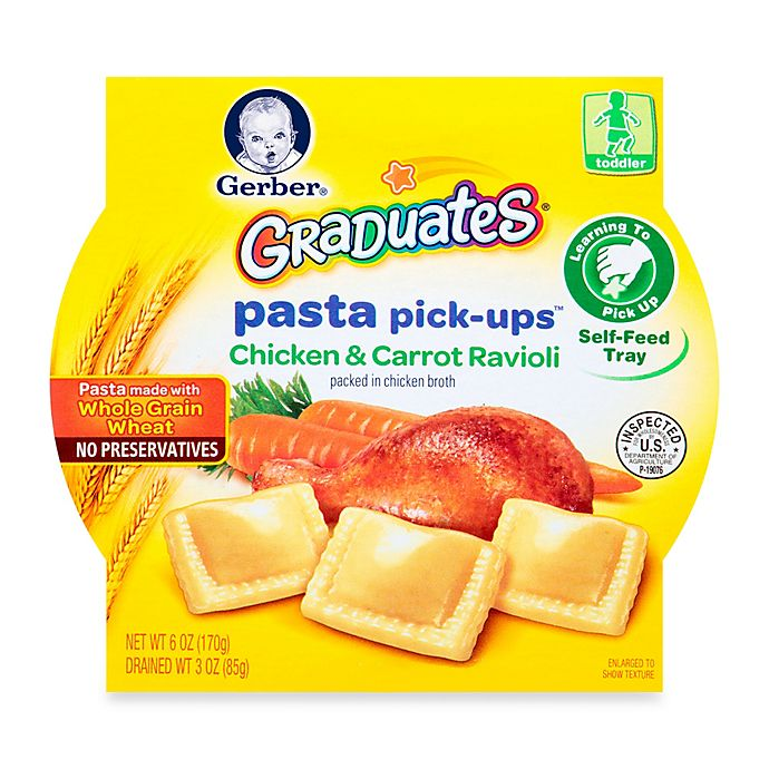 Alternate image 1 for Gerber Graduates Pasta Pick-Ups 6 oz. Turkey & Vegetable Ravioli