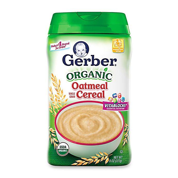 Gerber® 8 Oz. Organic Whole Grain Oatmeal Cereal