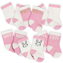 Gerber® 6-Pack Princess Bunny Socks in Pink/White