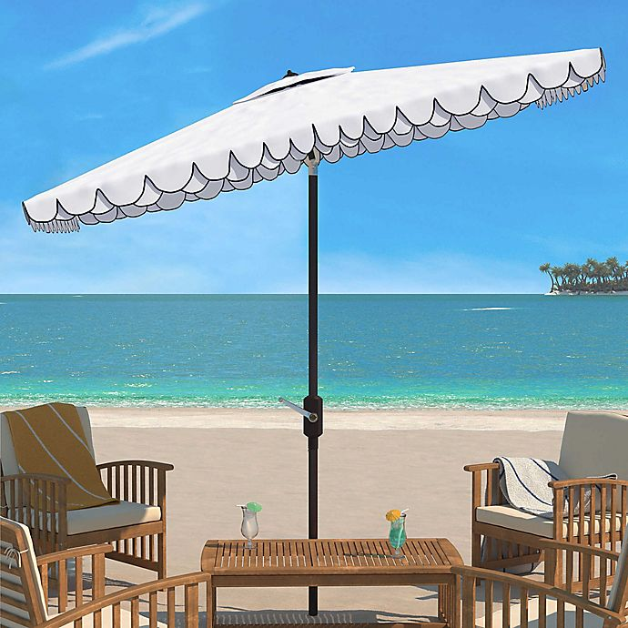 Alternate image 1 for Safavieh Elegant 10-Foot Rectangle Valance Umbrella