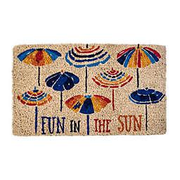 "Entryways Fun in the Sun 18"" x 30"" Coir Door Mat"