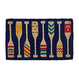 """Entryways Paddles 18"""" x 30"""" Handwoven Doormat"""