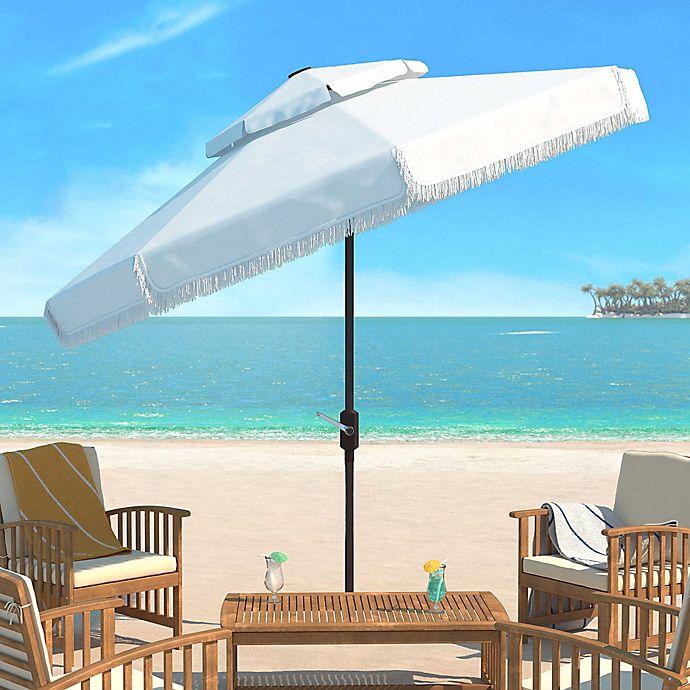 Alternate image 1 for Safavieh Milan 9-Foot Round Double-Top Crank Patio Umbrella