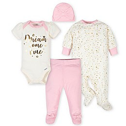 Gerber® 4-Piece Princess Take Me Home Set in Pink/Ivory