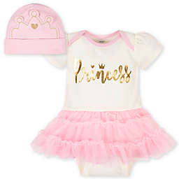 Gerber® 2-Piece Princess Tutu Bodysuit and Cap Set in Pink/White