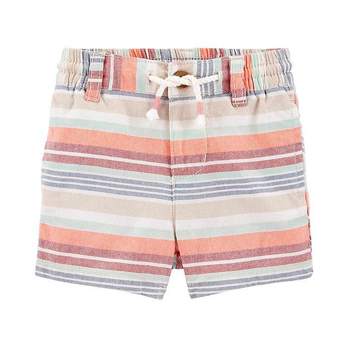 Alternate image 1 for OshKosh B'gosh® Multi Stripe Short in Coral