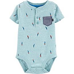 OshKosh B'gosh® Blue Parrot Henley Bodysuit