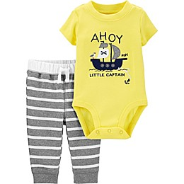 carter's® 2-Piece Ahoy Bodysuit and Pant Set in Yellow
