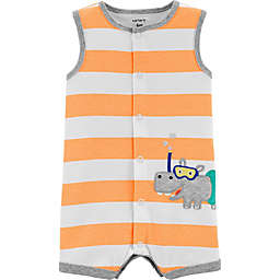 carter's® Hippo Snap-Up Romper in Orange